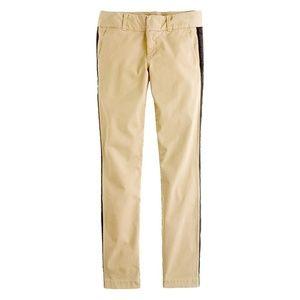 J. Crew Pants - J. Crew Tuxedo stripe Andie chino Skinny Pants